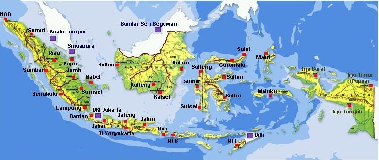 Provinsi Daerah Pulau Kota yang kami support  Jasa Kirim Mobil